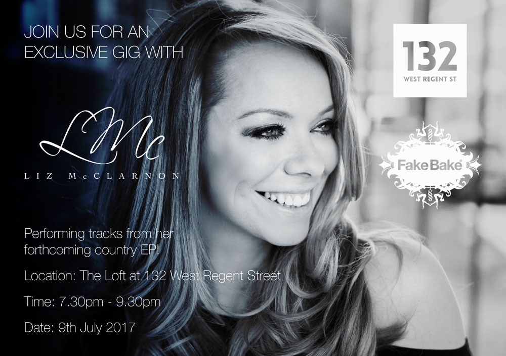 Exclusive gig with Liz McClarnon at Fake Bake, Glasgow, 9th July 2017